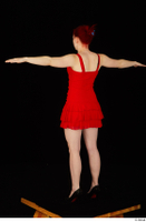 Vanessa Shelby red dress standing t poses whole body 0006.jpg